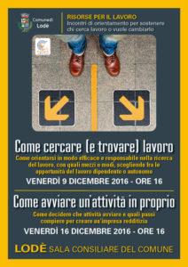 Locandina incontri di orientamento 9 e 16 dicembre