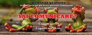 Locandina webinar gratuito SAI COMUNICARE?