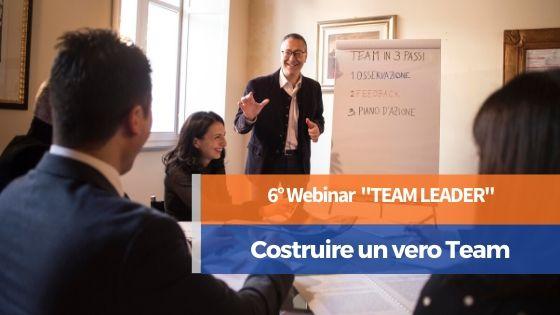 Webinar Costruire un vero Team